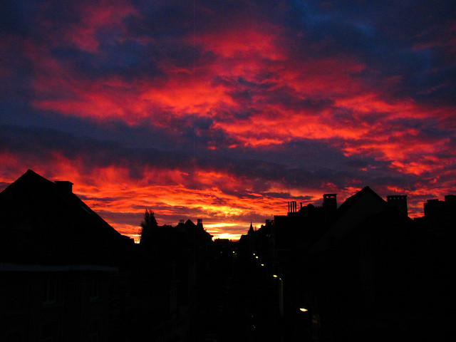 Sunset on Etterbeek