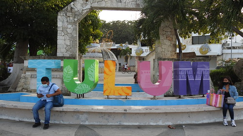 Tulum Archeological Site, Beach, and City | by Dennis S. Hurd