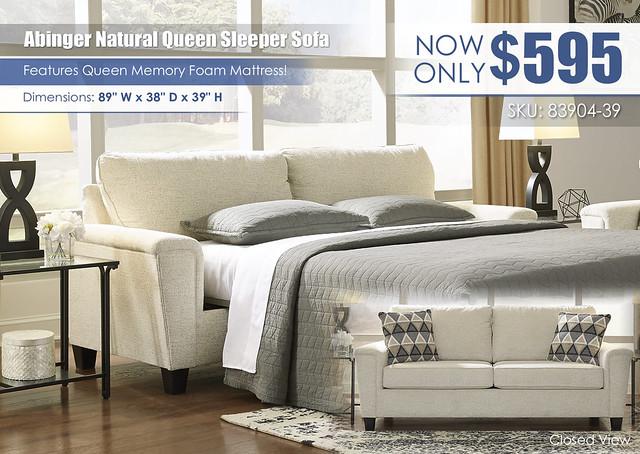 Abinger Natural Queen Sleeper Sofa_83904-39-SLPR