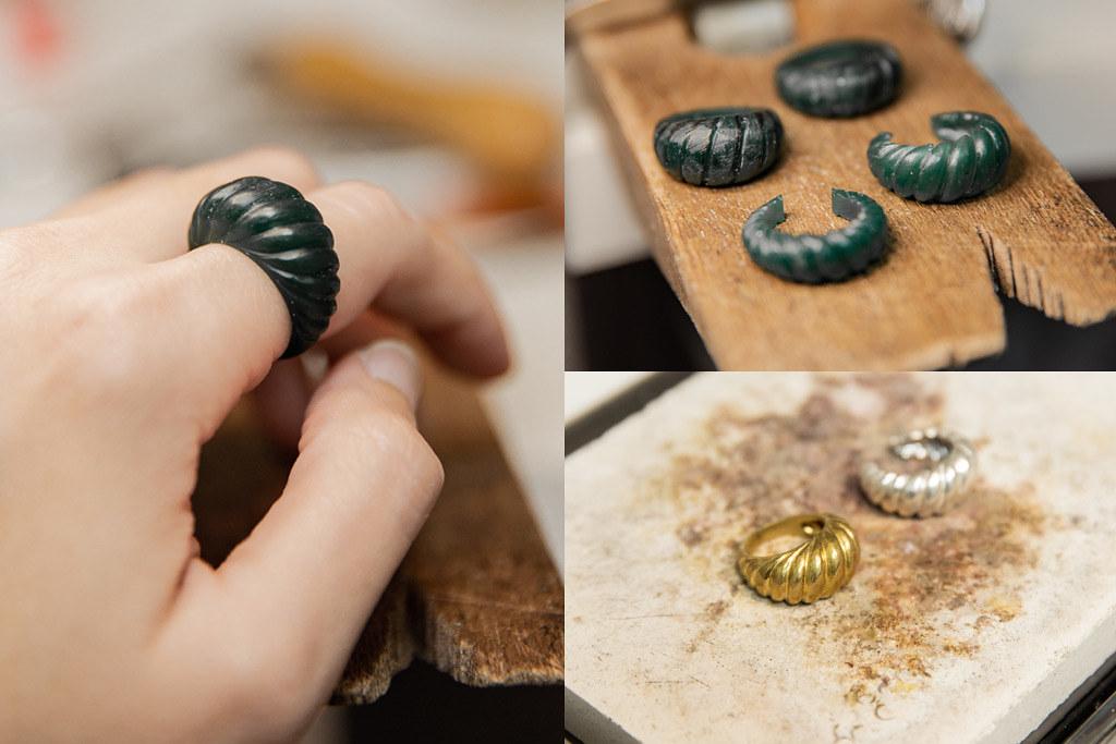 黃銅可頌戒指big