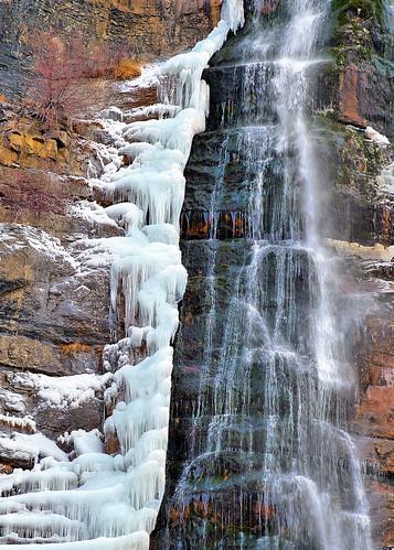 eechillington nikond7500 viewnxi corelpaintshoppro bridalveilfalls provocanyon utah nature rocks water