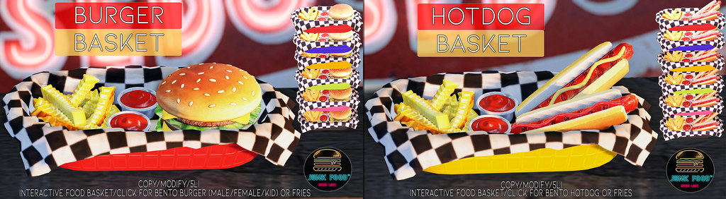 Junk Food – Burger & Hotdog Baskets Ad