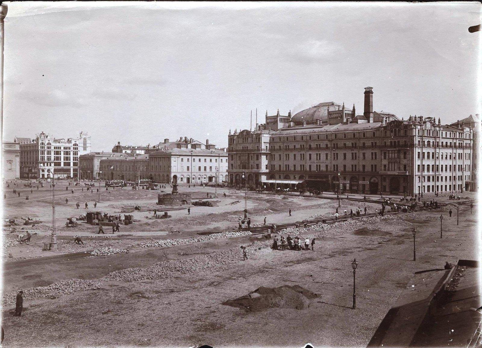 Реконструкция Театральной площади. 1905