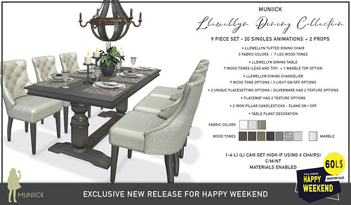 Happy Weekend - 60L 9 Piece Dining Set