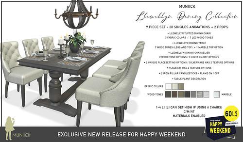 Happy Weekend - 60L 9 Piece Dining Set
