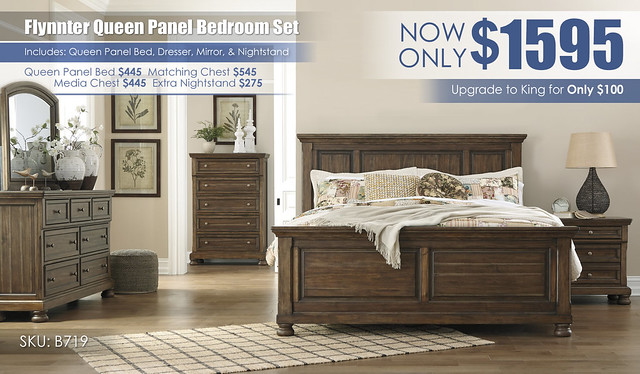 Flynnter Queen Panel Bedroom Set B719-31-36-46-58-56-97-92