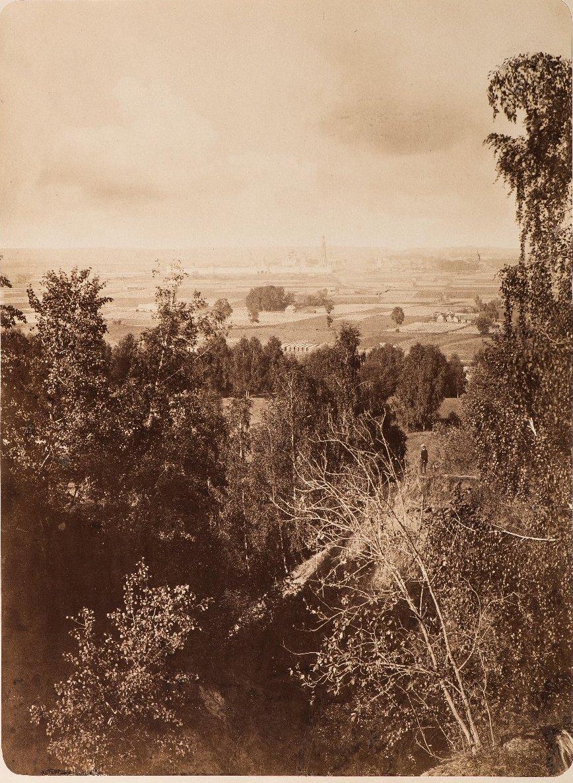 Воробьевы горы. Вид с Воробьевых гор на Новодевичий монастырь. 1870-е
