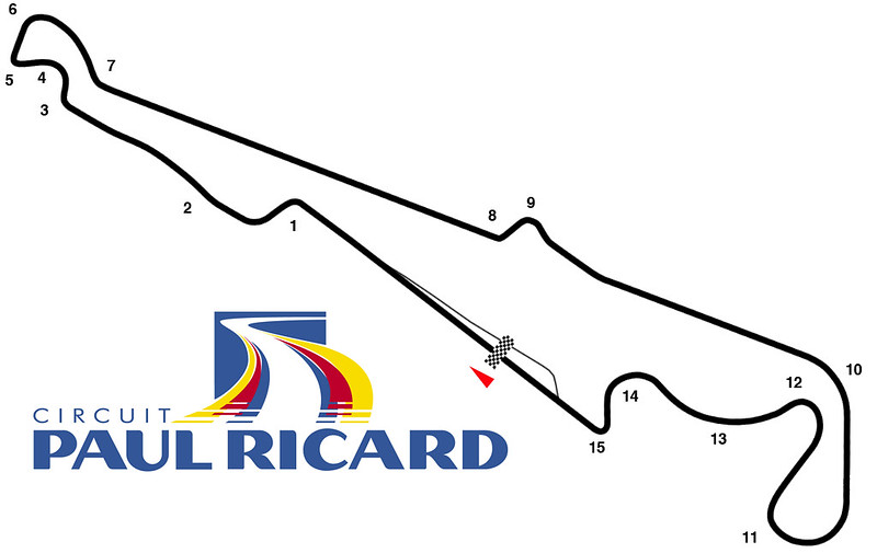 Circuit Paul Ricard tRack Map