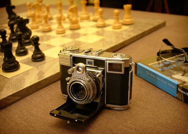 Contessa with chessboard