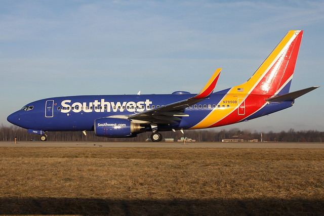 N7850B Southwest 737-7QB at KCLE