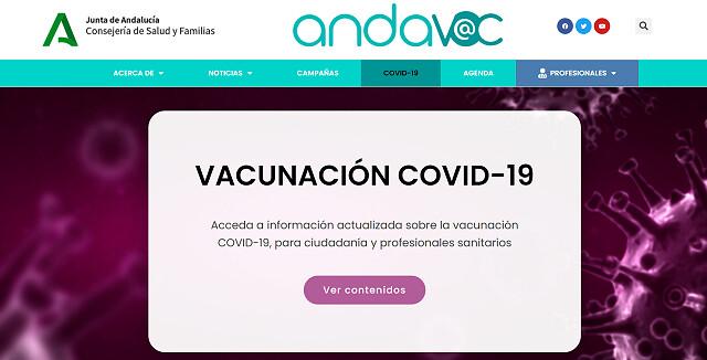 web vacunacion junta de andalucia
