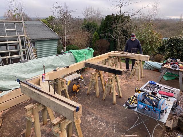 First cross frame taking shape - 1