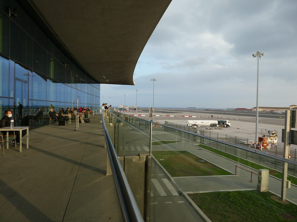 Viewing terrace Gibraltar Airport