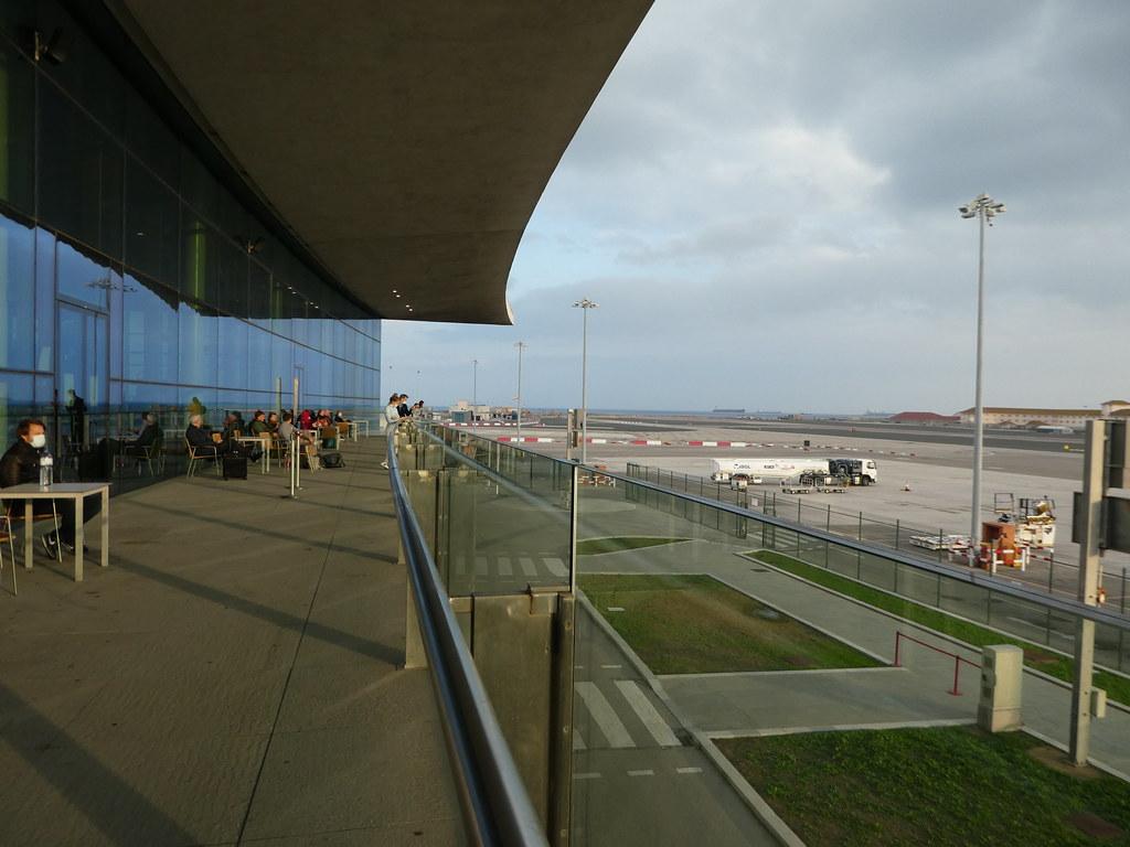 Viewing terrace Gibraltar Airport