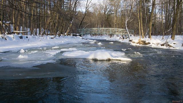 Passerelle, Rivière du Berger, Parc de l'Escarpement, Québec, Canada - 6020