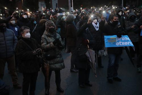 Presoen aldeko manifestazioa