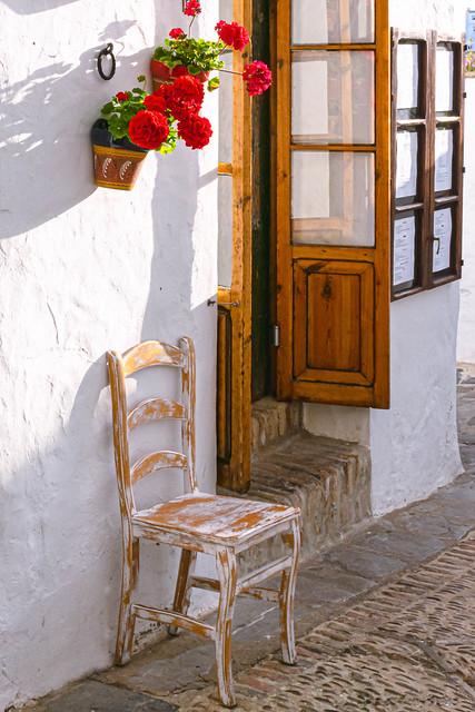 La silla y la flor