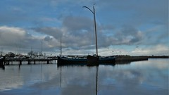 Woudsend harbour, winter reflections