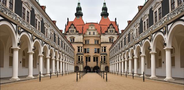 Dresden, Stallhof (mirrored).