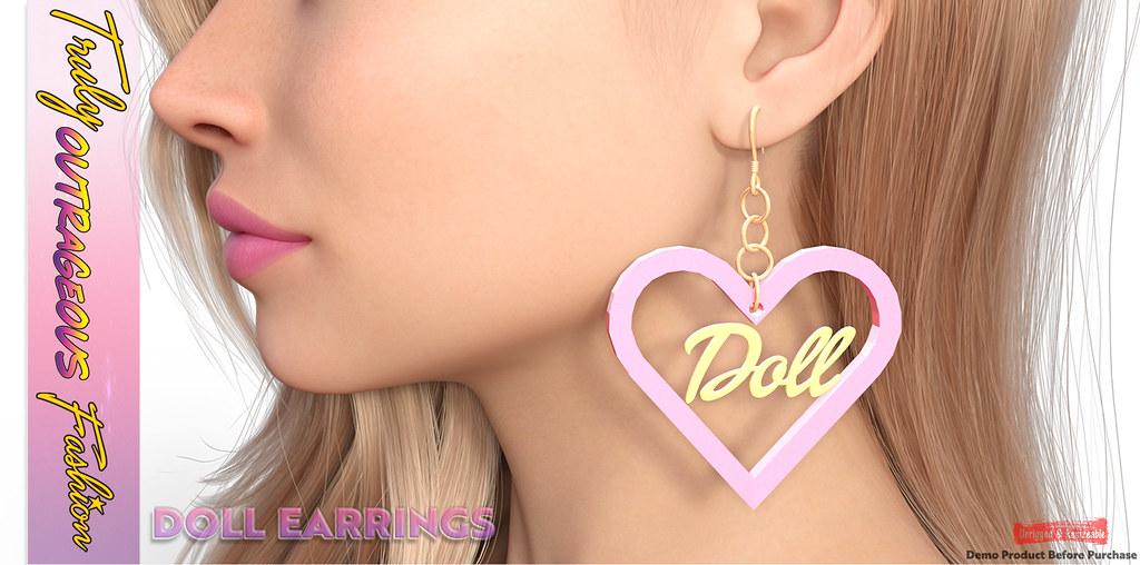 {TOF} DOLL EARRINGS