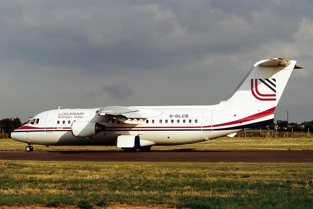 G-OLCB Bae 146-200 Loganair