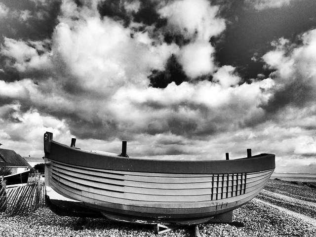 Fisherman's boat on shoreham beach