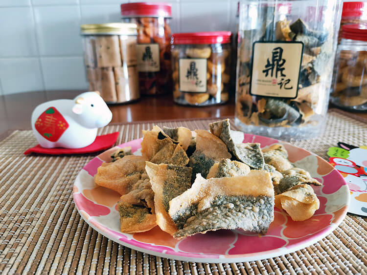 salted egg fish skin cny goodies