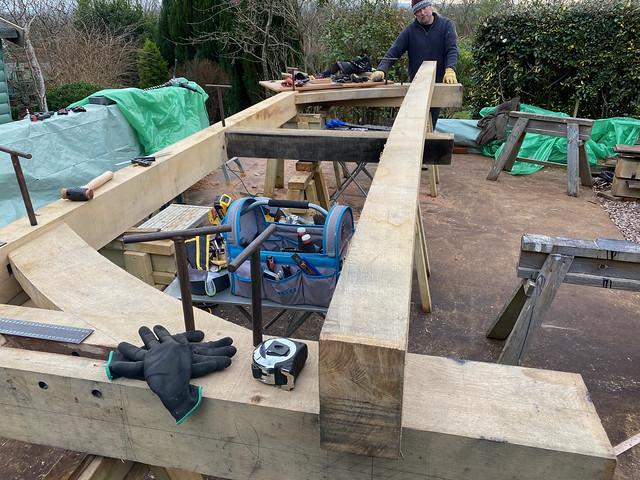 First cross frame taking shape - 3