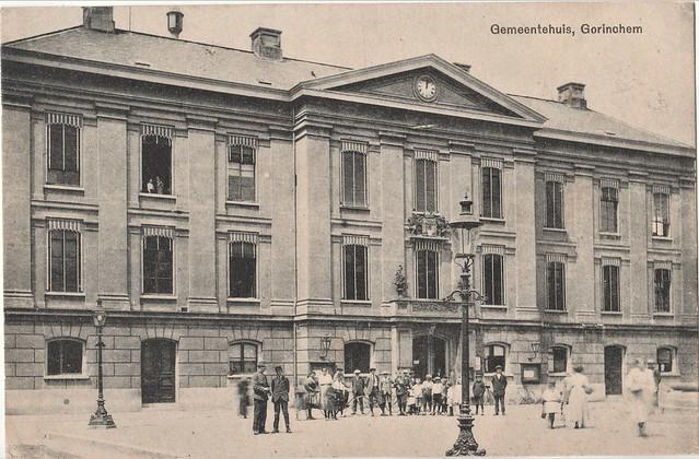Ansichtkaart - Gemeentehuis, Gorinchem (Uitg. A.v.W. G. 21032) Poststempel 1918 - Marie Matla, Pieter Beekmanstraat