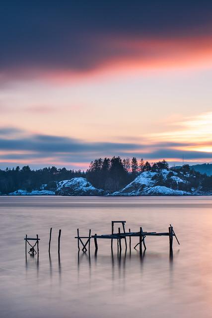 dock, long exposure
