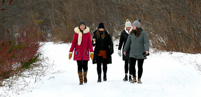Four Ladies on a Hike