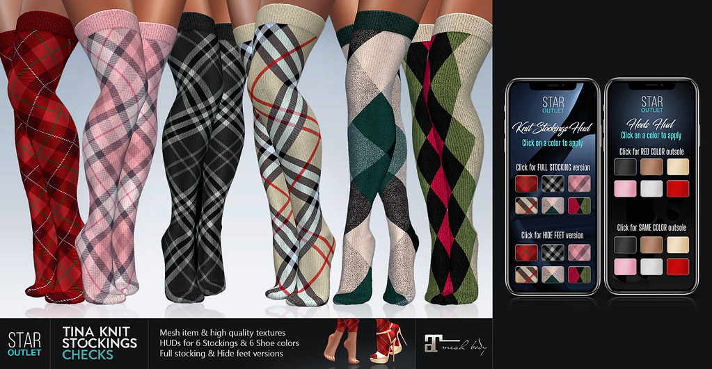 Star Outlet Tina Knit Stockings Checks – Maitreya