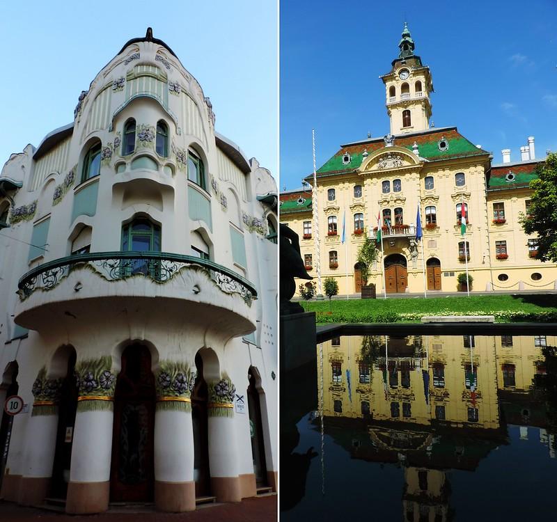 Reök Palace and the Town Hall, Szeged, Hungary