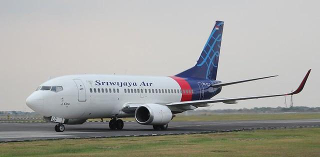 Un avión de la aerolínea Sriwijaya Air, en el aeropuerto internacional Ahmad Yani de Semarang, en Indonesia  Andika -Primasiwi-EFE-