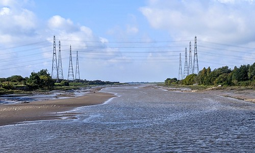 Pylons at the River Ribble | by Tony Worrall
