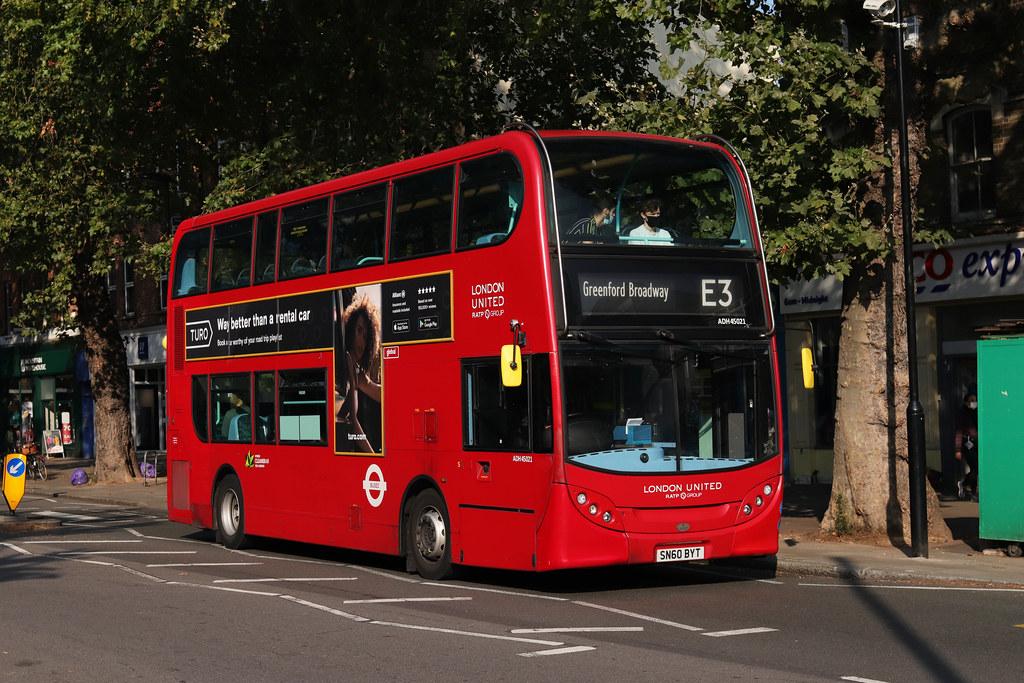 Route E3, London United, ADH45021, SN60BYT