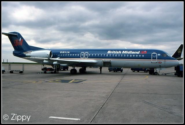 G-BVJA - British Midland - Fokker 100 - EMA