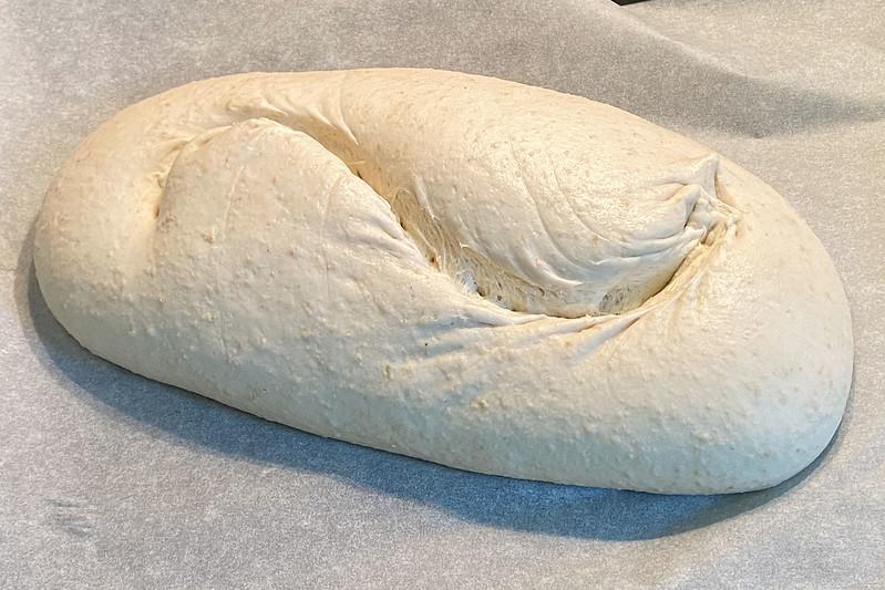 Sourdough before baking