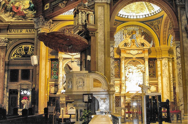 Our Lady of Victory Basilica ~ Pulpit  ~ Lackawanna ~ New York ~ Landmark