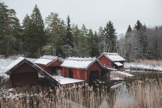 Vinter i Tuskösundet.
