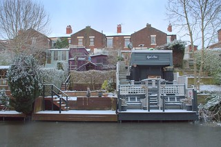 Frozen canal side houses at Preston | by Tony Worrall