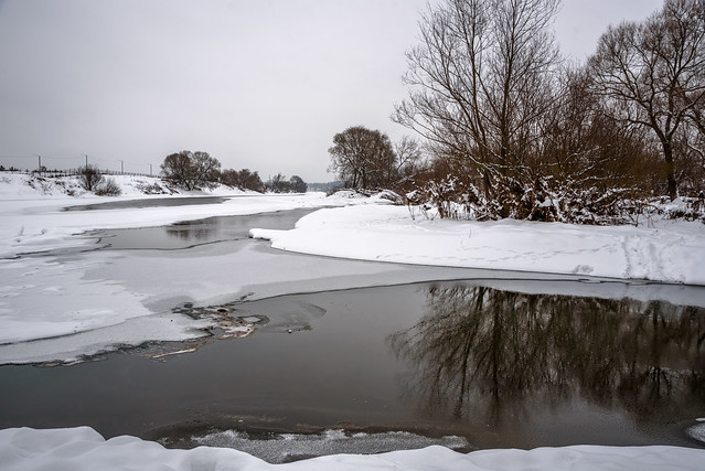 Winter river / Зимняя река