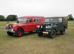 Pair of Land Rovers at the Battle of Britain Airshow, Headcorn Aerodrome on 27.09.20
