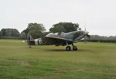 Mk IXT Spitfire NH341 Elizabeth lands at Headcorn Aerodrome, Kent on 27.09.20