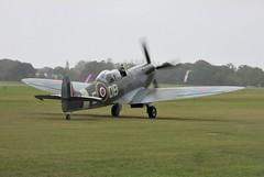 Mk IXT Spitfire NH341 Elizabeth completes its display at Headcorn Aerodrome, Kent on 27.09.20