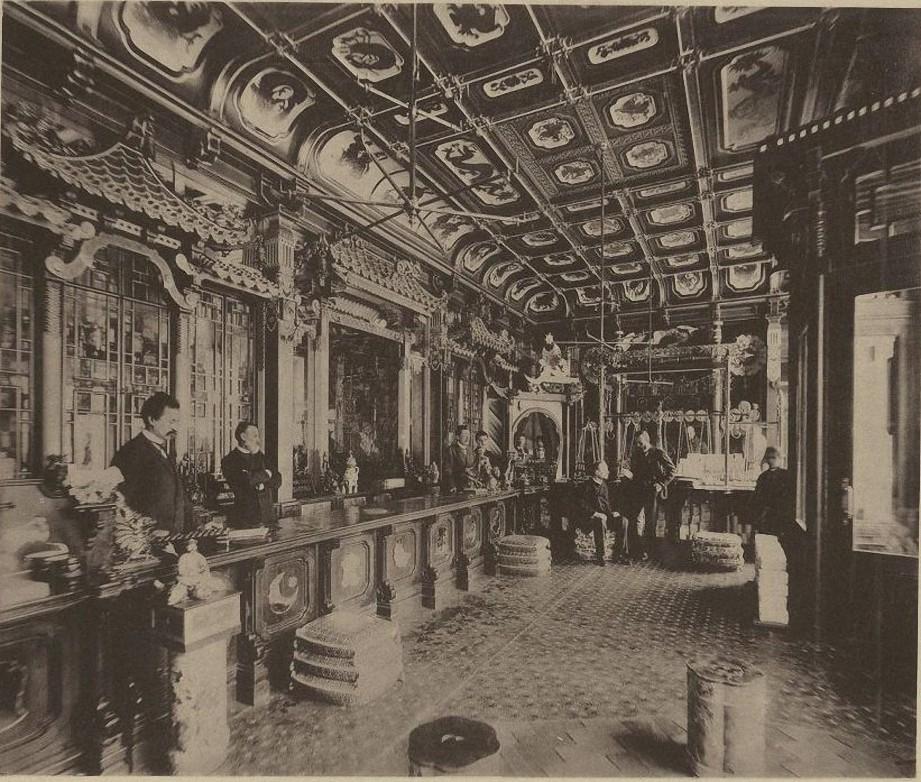 Чайный магазин Перлова. Мясницкая. Торговый зал. 1890-е.