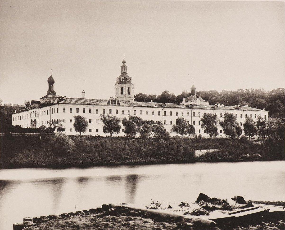 Вид Андреевской богадельни на Воробьевых горах за Калужской заставой. 1884