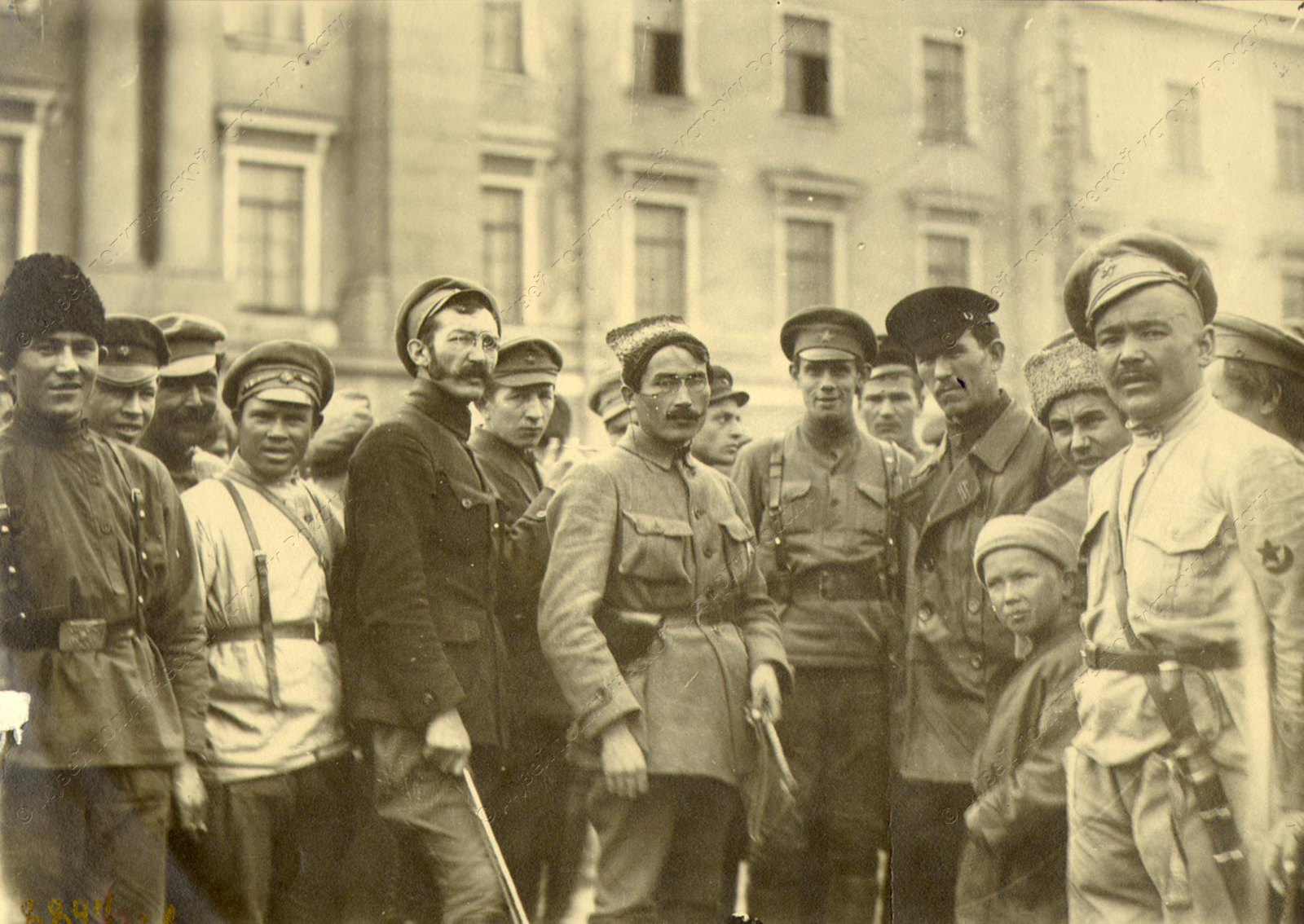1919. Группа бойцов 3-го кавалерийского полка Башкирской дивизии во главе с Таировым и Ахтовым