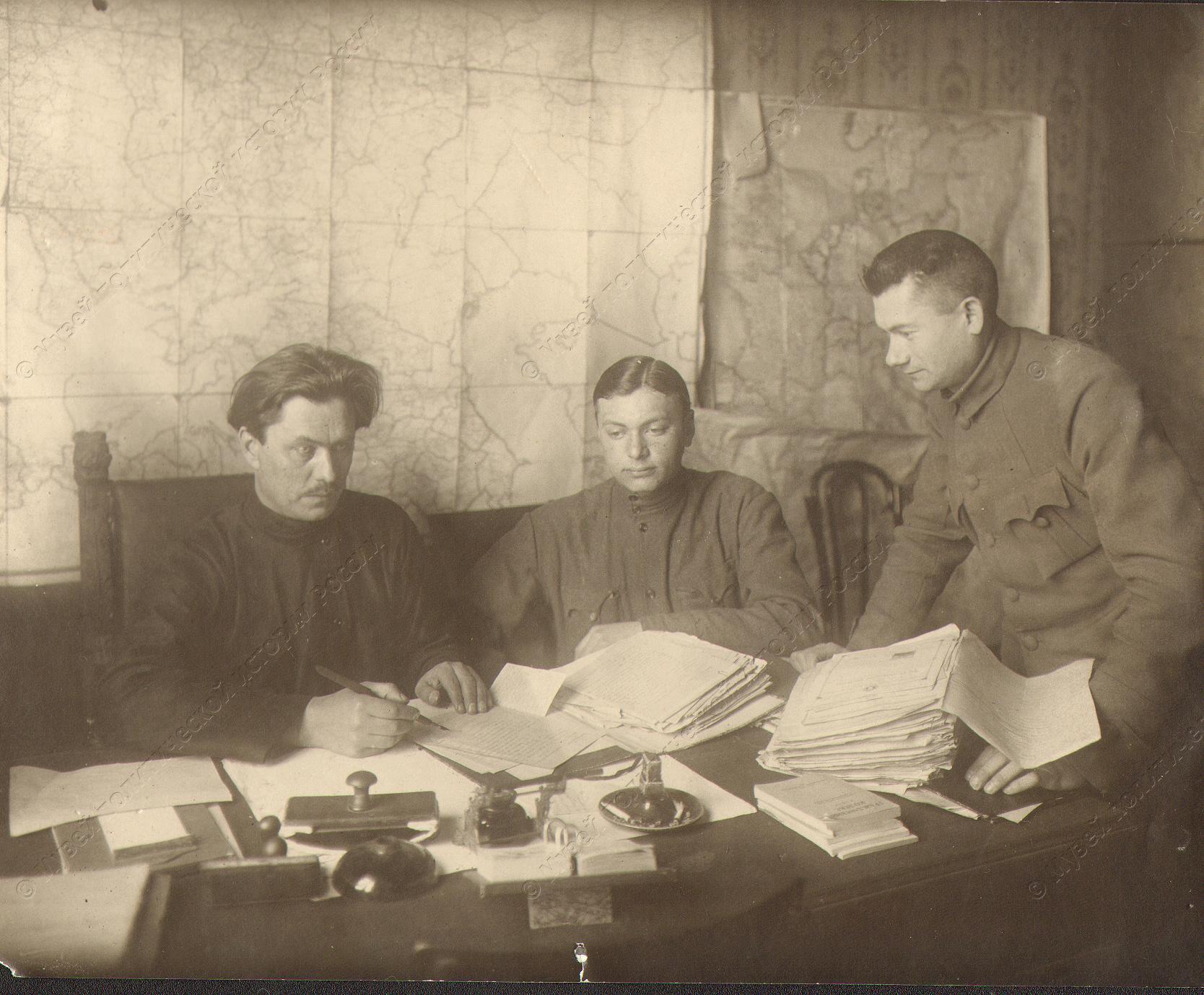 1918-1920. Руководители одного из подразделений Красной Армии
