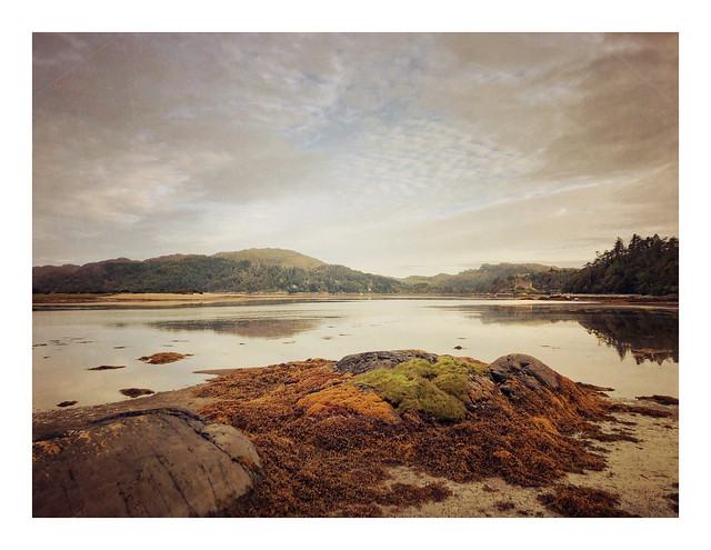Castle Tioram, distantly from Shielfoot, Ardnamurchan